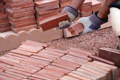 Pickin' the bricks Royalty Free Stock Image
