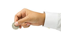 Picking coin Stock Photography