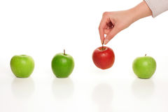Picking different apple Stock Image