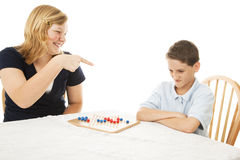 Picking on Little Brother royalty free stock photo