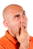 Picking the nose Royalty Free Stock Photography