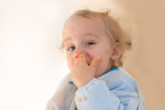 Picking nose Royalty Free Stock Photography