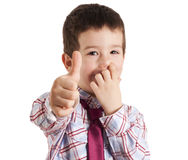 Picking nose and ok sign Royalty Free Stock Photo