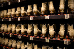 Picking out a pair of roller skates Royalty Free Stock Photo