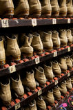 Picking out a pair of roller skates Stock Photo
