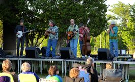 2014 Picking and Picnic in the Park Bluegrass Music Festival Stock Photos