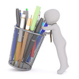 Picking right pen concept Stock Photography