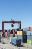 Picking-up of containers Stock Images