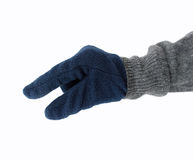 Picking up with glove Stock Photo