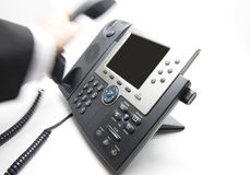 Picking up / hanging the phone Royalty Free Stock Images