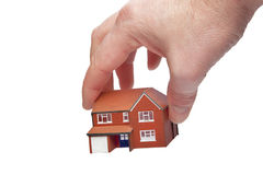 Picking up a house Stock Photo