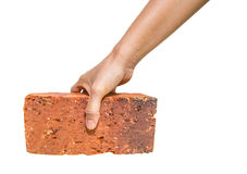 Picking Up Red Bricks I Royalty Free Stock Images