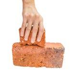 Picking Up Red Bricks II Stock Images
