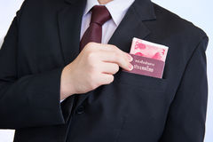 Picking Yuan or RMB and passport stock photography