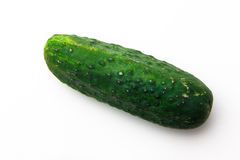 Pickle. A green pickle over white Stock Photography