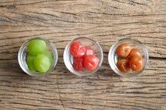 Pickle cherry fruit Stock Photo