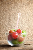 Pickle cherry fruit Royalty Free Stock Photo