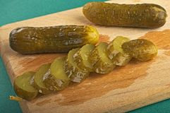 The pickle cut on segments Royalty Free Stock Photo