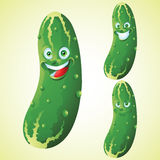 Pickle face expression cartoon character set Royalty Free Stock Photo