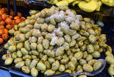Pickle fruit - Madan preserved. Pickle fruit for sale In the market Thai street food. mango tamarind Madman star gooseberry Stock Photography