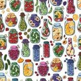 Pickle jars royalty free illustration