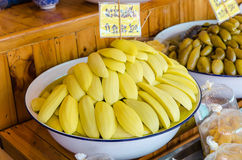 Pickle mango and other friut in thai Royalty Free Stock Photography