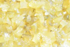 Pickle relish. A close up and detailed shot of pickle relish stock photo