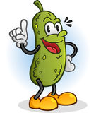 Pickle Retro Styled Cartoon Character. An old time styled cartoon pickle character pointing a finger Royalty Free Stock Photos
