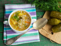 Pickle - Russian soup Stock Photo
