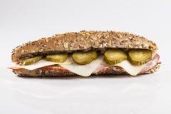Pickle sandwich stock image