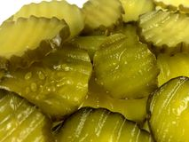 Pickle slices Royalty Free Stock Photos