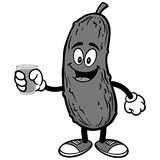 Pickle with Water Illustration Royalty Free Stock Photography