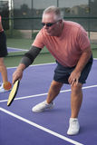 Pickleball Action - Backhand Dink Stock Photos