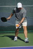Pickleball Action - Beginning the Serve Stock Image