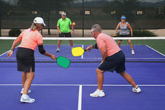 Pickleball Action - Mixed Doubles 2 Stock Image