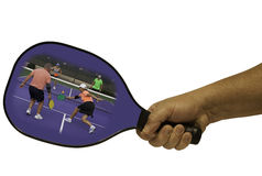 Pickleball Action in a Paddle Royalty Free Stock Photo