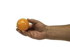 Pickleball in der Hand Lizenzfreies Stockfoto