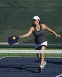 Pickleball - Female Player Hitting Forehand Royalty Free Stock Photo