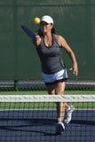 Pickleball - Female Player Hitting Forehand Stock Photography