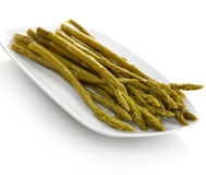 Pickled Asparagus Royalty Free Stock Images