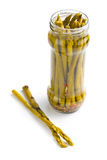 Pickled asparagus Stock Photography