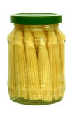 Pickled baby corn cobs Stock Images