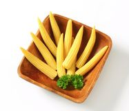 Pickled baby corn Stock Photo