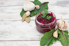 Pickled beet in a jar Stock Photos