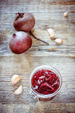 Pickled beets in the jar Royalty Free Stock Image