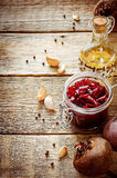 Pickled beets in the jar Royalty Free Stock Photo