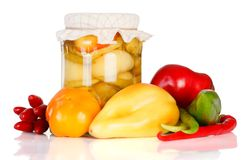 Pickled bell peppers Stock Photography