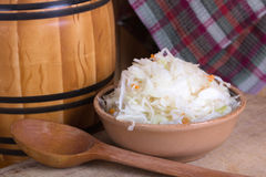 Pickled cabbage homemade Royalty Free Stock Photos