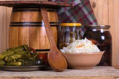 Pickled cabbage homemade Stock Image