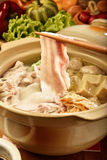 Pickled cabbage and meat hot pot       Royalty Free Stock Image